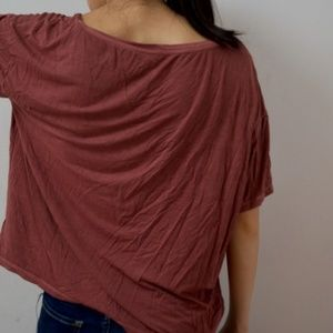 "American Eagle Outfitters Tops - Lightly Used Dusty Pink ""Soft & Sexy"" T"